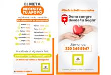 Photo of Recolección de alimentos y ayudas, al igual que donación de sangre se realizarán a domicilio