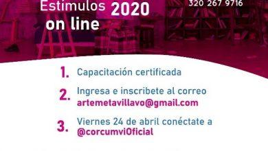 Photo of Capacitación on-line para artistas: convocatoria de estímulos Mincultura 2020