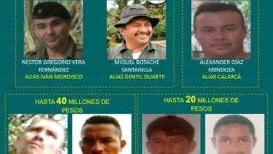 Photo of Recompensa para dar con los más buscados en el Meta llega a los dos mil 100 millones de pesos
