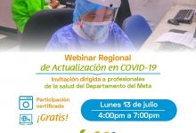 Photo of Hoy profesionales de la salud del Meta conocerán las últimas actualizaciones en covid-19