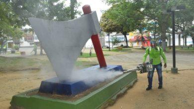Photo of Desinfectan zonas de alto tránsito de personas en Villavicencio