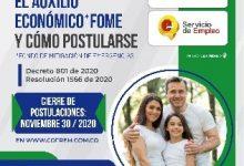 Photo of Hasta hoy 30 de noviembre vence el plazo  para postularse al Auxilio Económico FOME