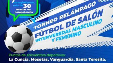 Photo of Este 21 de noviembre inicia el Torneo Relámpago  Interveredal de Fútbol de Salón