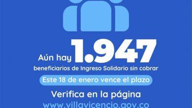 Photo of Más de 1.947 villavicenses no han reclamado  el incentivo de ingreso solidario